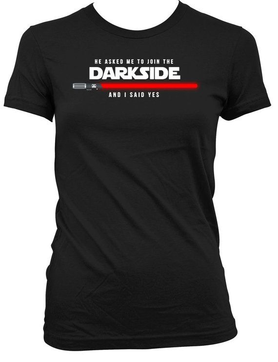 dafcfb11 Funny Bride Shirt Gifts For Bride To Be T Shirt Bachelorette Gifts He Asked  Me To Join The Darkside