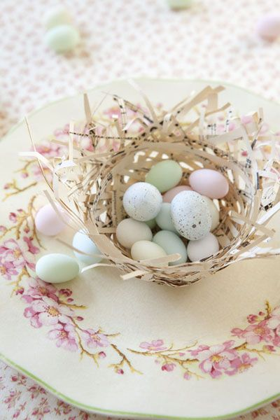 Paper Nests | Easter Craft & Decorating Ideas | Celebrate
