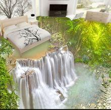 3d Pvc Bodenbelag Wasserdicht Self Adhesive 3d Wandbilder Wallpaper  Benutzerdefinierte Wasserfall 3d Bodenfliesen Für