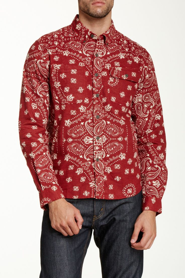 Burkman Bros Hand Pocket Bandana Print Shirt by Burkman Bros on @HauteLook