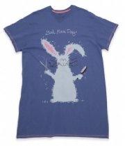"""Hatley Rabbit """"Bad Hare Day"""" One Size Sleepshirt"""