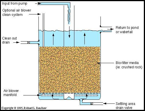 95 best images about filter on pinterest japanese koi for Pond biofilter design