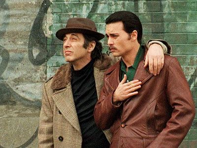 """DONNIE BRASCO- The pairing of two of the best actors to ever grace the silver screen had a lot of people hoping for something great…and it delivered the goods. Depp portrays real life undercover FBI agent Joe Pistone aka Donnie Brasco, who infiltrated the New York mafia only to form a friendship with one of it's members, """"Leftie"""" Ruggiero, portrayed by the great Al Pacino."""