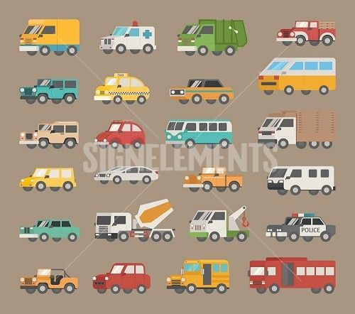Set of car icon , eps10 vector format
