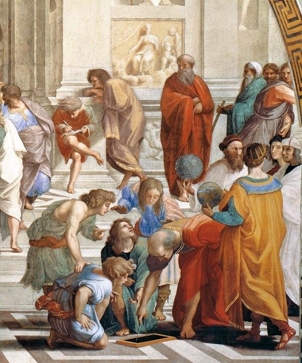 fresco sixtijnse kapel | Rafaël-Stanza-della-Segnatura-Vaticaanse-Musea-School-van-Athene (5)