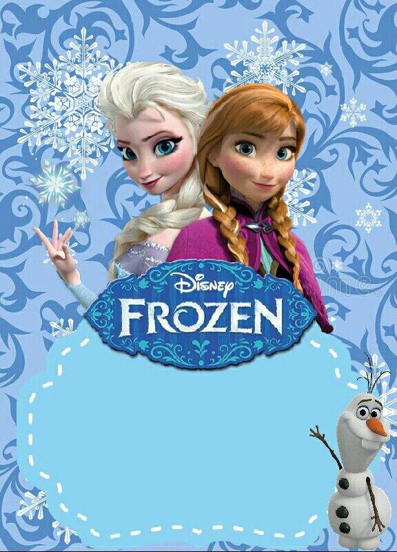 Tarjeta De Invitación De Frozen Para Editar Tarjetas De