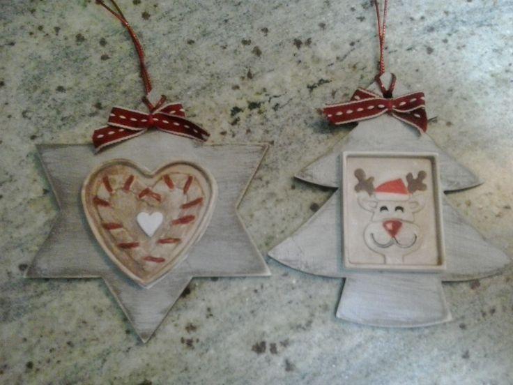gessetti su decorazioni natalizie