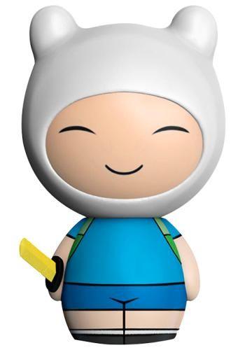 Statuetta da collezione Finn di Adventure Time. La collezione Dorbz del brand Funko è caratterizzata da personaggi leggermente più piccoli e tondeggianti (dalla testa ai piedi) rispetto a quelli della Pop!.
