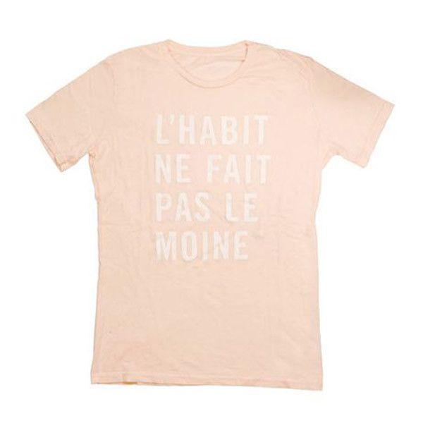 SOLD OUT Clare Vivier Blush T-shirt 'L'HABIT NE FAIT PAS LE MOINE'