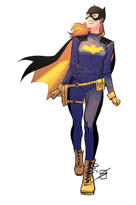 """ronsalas: """" Only had time for quick colours on this thing… """" Batgirl sonríe al nuevo día Caminando con paso firme en la vida la superheroína Batgirl sonríe, olvidando sus malos momentos cuando lucha..."""