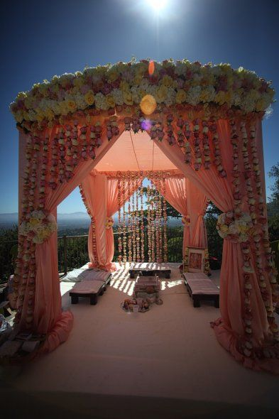 I know these are suppose to be for a Indian wedding.But would be beautiful for the Bride & Groom to stand under and say their vows also.