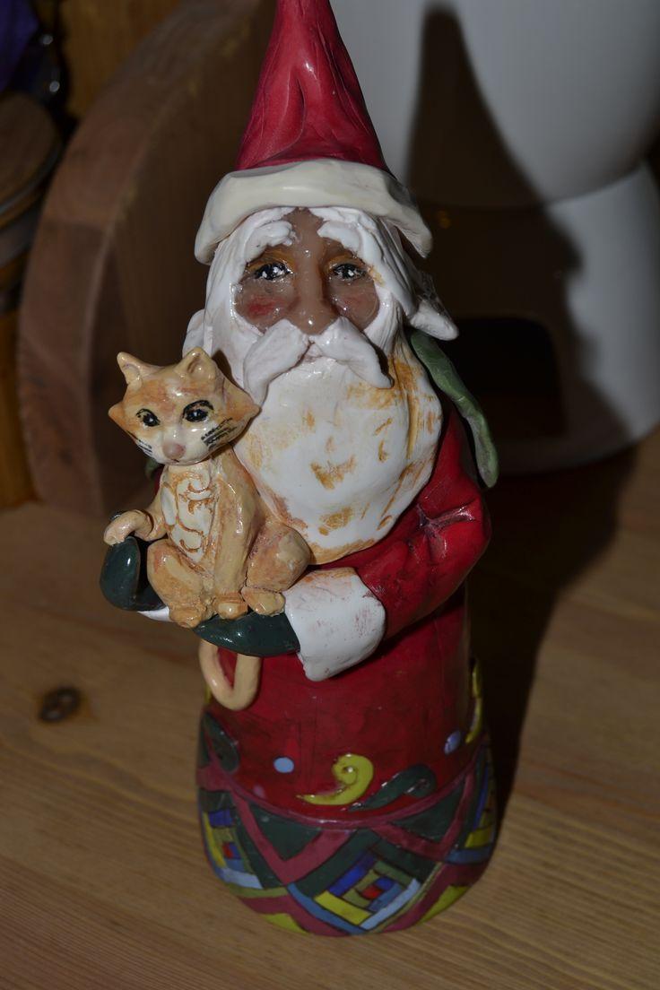 3D Santa Claus, polymer clay, all handmade