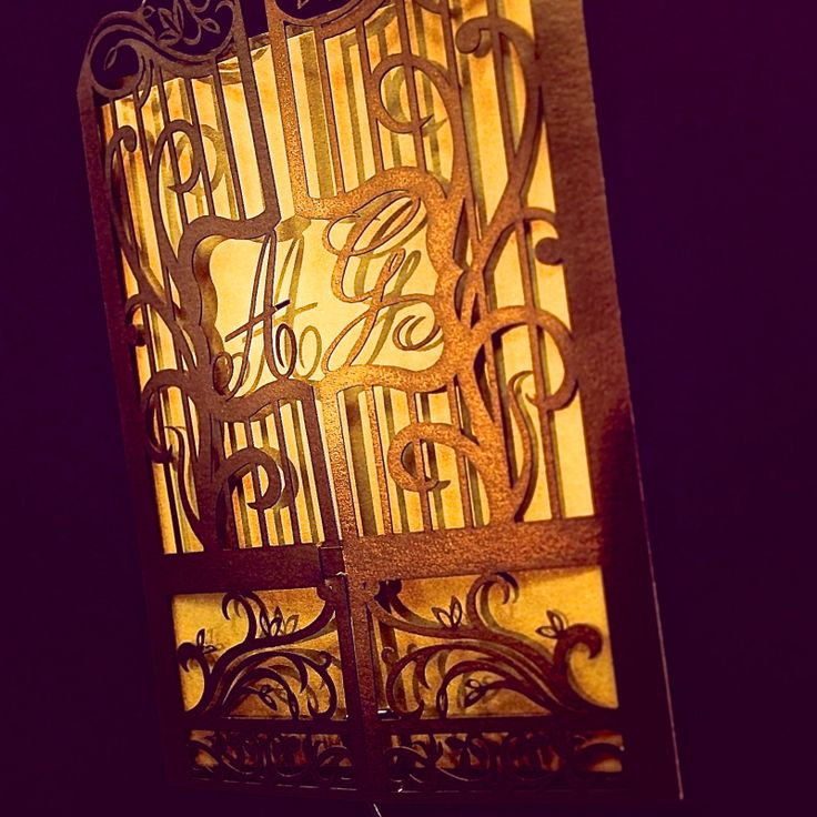 Create a sense of whimsy with ornate gate folds, customized to your style.