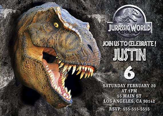Jurassic World Invitation Jurassic World digital file