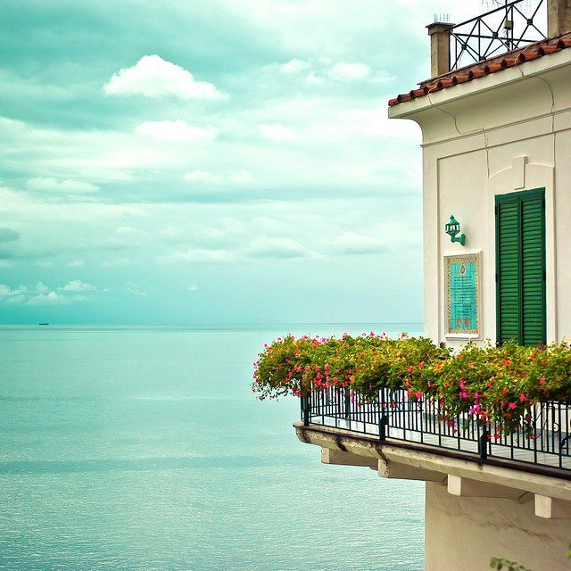gorgeous balcony over blue waters