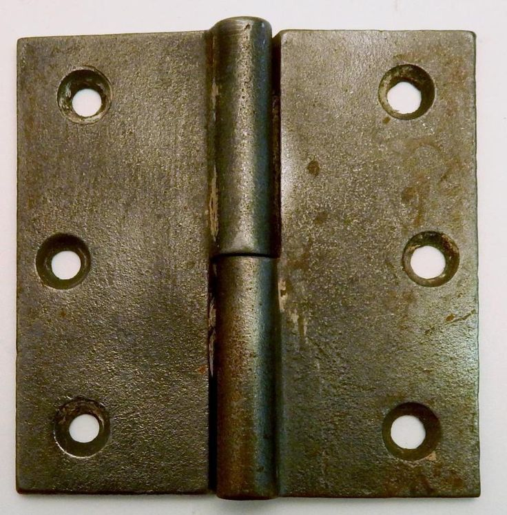 Antique Cast Iron Lift Off Door Right Butt Hinge 3 1/2 x 3 1/2 #Unknown
