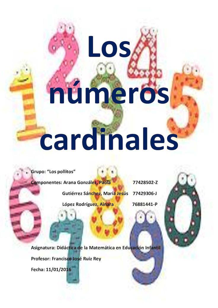 Calameo sobre nuestro trabajo Los números cardinales