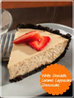 White Chocolate Caramel Cappuccino Cheesecake...have we died and gone ...