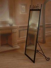 grands miroirs sur pied en fer forg modle aries - Miroir De Chambre Sur Pied