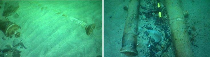 Juliana+A pesar de haberse hallado varios cañones, como puede apreciarse en las imágenes difundidas, La Juliana no era un buque de guerra sino de transporte de mercancias