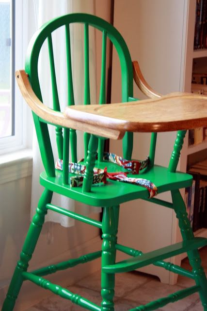 Like Mother, Like Daughter: Before and After: Pippo's High Chair- color?  Stain tray?