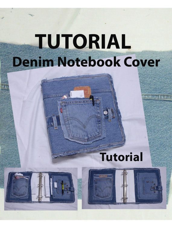 Denim Book Cover Diy : Covered denim notebook tutorial covers