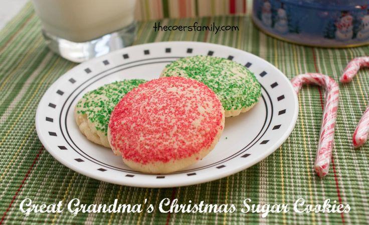 Great Grandma's Christmas Sugar Cookies