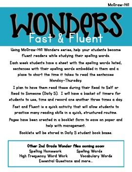 2nd Grade WONDERS Fast and Fluent