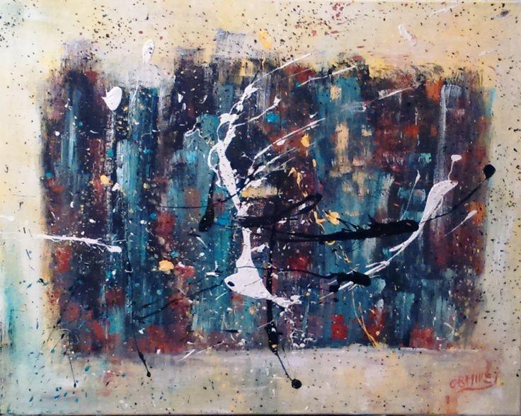A découvrir au 3ème Salon de Peinture Abstraite sur www.myrankart.com  Le Bal by catherine MILLET