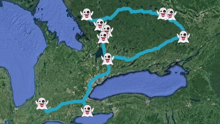 This Map Will Take You On A Road Trip To The Creepiest Ghost Towns In Ontario - f you're looking to go on vacation without leaving the province, this epic road trip to some of southeastern Ontario's prettiest towns should help: