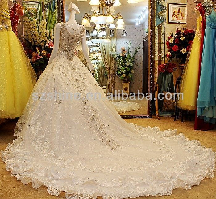 YWD11056 Real Sample Wedding Dresses 2015 Crystals…
