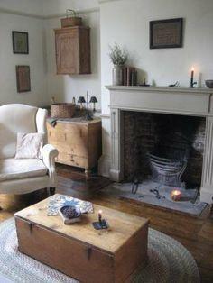rustic primitive living room