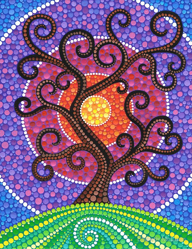 Spiralling tree of life by elspeth mclean love the bubbles for El mural de mosaicos