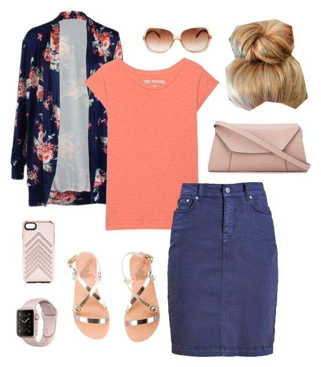"""Nice Sumer Day"" by misslilylou on Polyvore featuring True Religion, Barbour, Ancient Greek Sandals, Valextra, Rebecca Minkoff and Oliver Peoples"