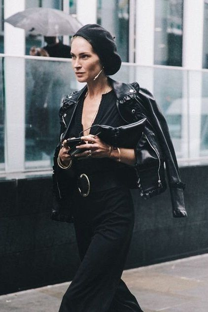 Erin Wasson rocking a leather jacket.. Click to see which one is right for you!