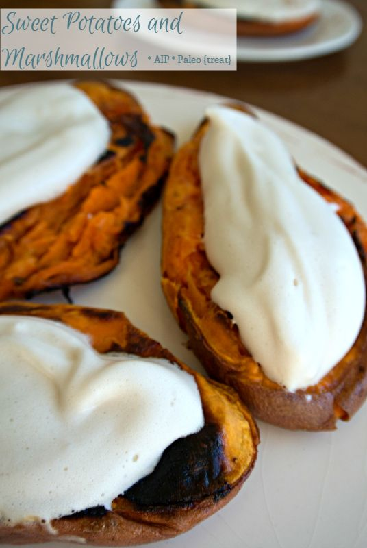 Roasted Sweet Potatoes with Maple Marshmallows (AIP)