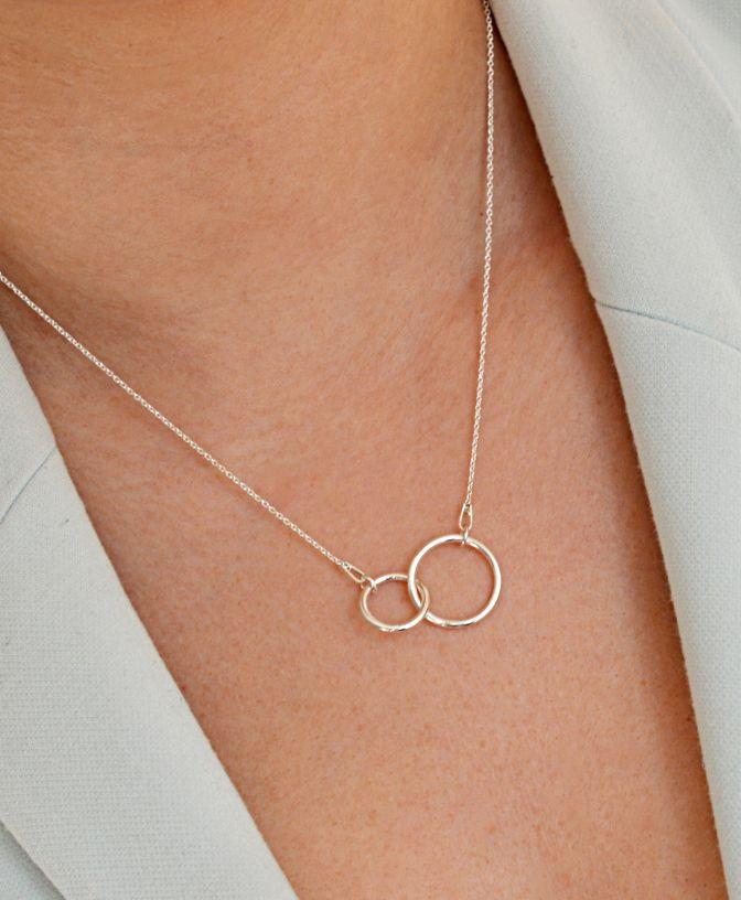 Srebrny Naszyjnik Celebrytka Karma Podwojna Silver Silver Necklace Jewelry