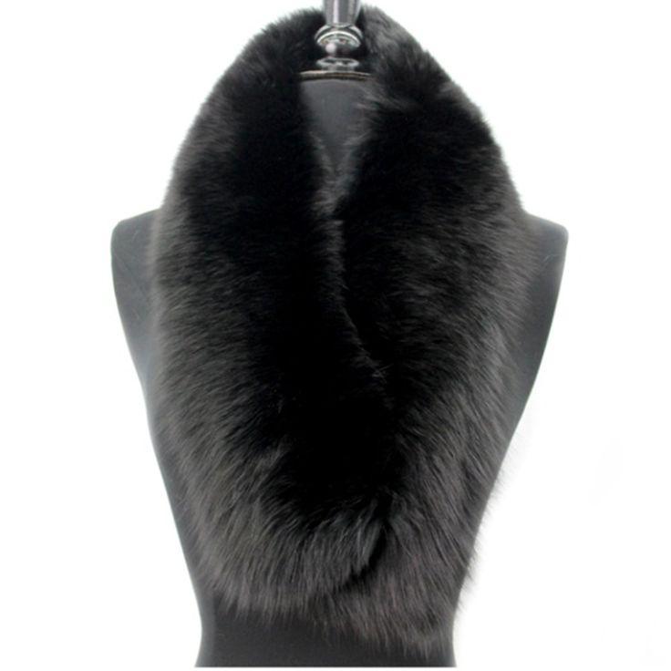 Fox Fur Collar-Black