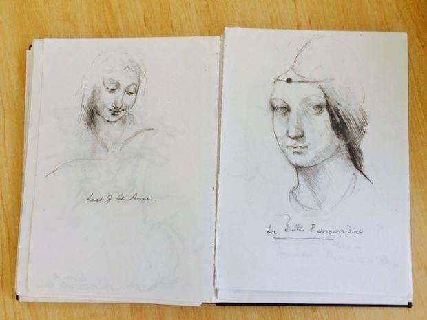 Betty Churcher's sketches.
