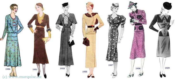 Modewandel 1930 1939 Swingstyle Pinterest Mode F R Frauen Stil Und Kleiderstile