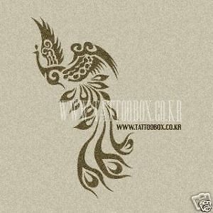Reusable Airbrush Temporary Tattoo Stencils Bird Medium Size | eBay