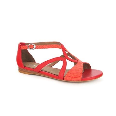 Beautiful summer sandal Zensu Goldy in Tangerine #colour #brights