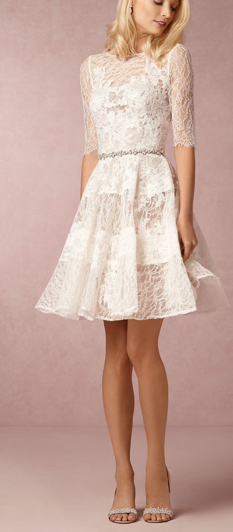 33 best little white dress images on pinterest | short wedding gowns