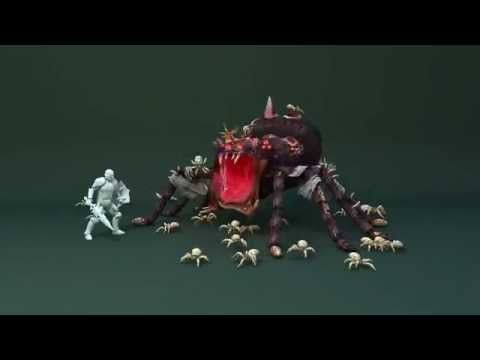 spider boss. Game animation. - YouTube
