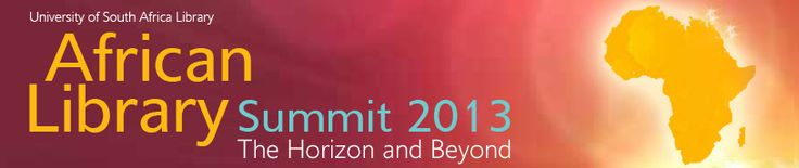 The African Library Summit 2013 is a top-level meeting of high-ranking officials, including      African library and information service (LIS) policy makers     LIS leaders and senior LIS management     Senior LIS educators and senior LIS researchers #AfrLS2013