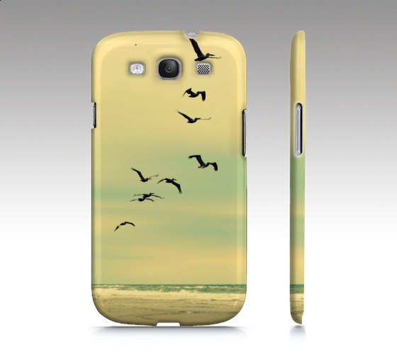Across the Endless Sea - Samsung S3 hard case - Photography pelicans birds nature sea beach ocean. $35.00, via Etsy. I want this phone case...