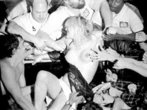 Courtney love upskirt on stage