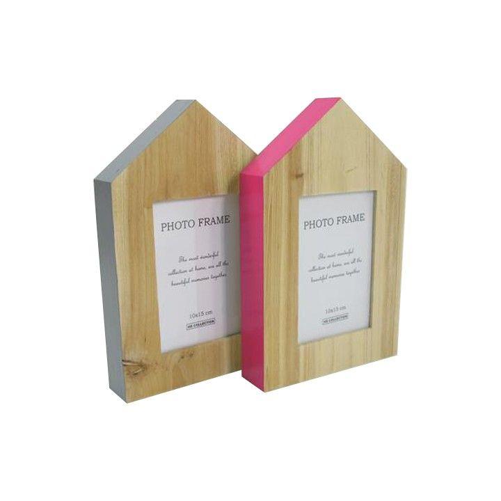 Fotolijst hout. Met deze set van hippe houten fotolijstjes heb je je dierbaren altijd in huis.