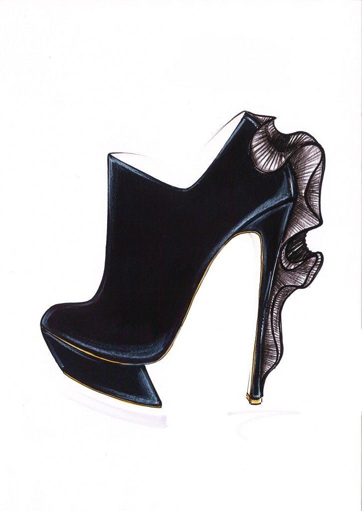 Nicholas Kirkwood shoe sketches