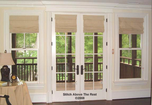 Roman Shades On French Doors Home Design Pinterest